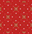 red festive star snow flake lattice winter vector image vector image