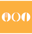 Restaurant menu design whit cutlery symbols vector image vector image