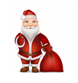 santa claus and a bag gifts vector image vector image