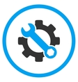 Service Tools Rounded Icon vector image vector image