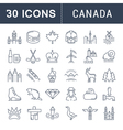 Set Flat Line Icons Canada vector image