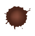 set of chocolate drop circle or blots on white vector image vector image