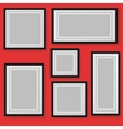 Set of frames on background vector image