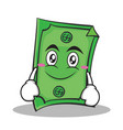 smile face dollar character cartoon style vector image