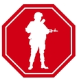 Stop war sign vector image