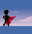 super boy sky silhouette vector image vector image
