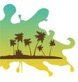 tropical retreat on splash vector image vector image