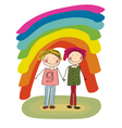 two gays vector image