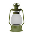 vintage camping old lamp for hiking vector image vector image