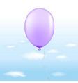 violet balloon vector image vector image