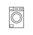 washing machine icon line style vector image
