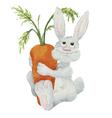 Watercolor cartoon rabbit vector image vector image