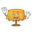 waving table cloth character cartoon vector image vector image