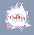 wedding accessories circle banner bridal fashion vector image vector image