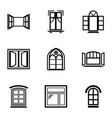 window frame icons set simple style vector image vector image