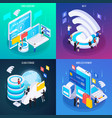 wireless technology isometric concept vector image vector image