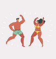 young people dancing on beach vector image vector image