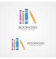 logo with a colored books vector image