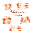Orange watercolor stains vector image