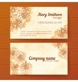 Ornate vintage business cards template vector image