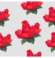 Seamless pattern with origami red roses vector image