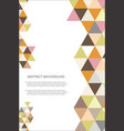 abstract geometric design background template 5 vector image vector image