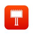 advertising billboard icon digital red vector image vector image