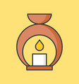 Aroma lamp icon filled outline