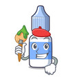 artist eye drops small bottle character vector image vector image