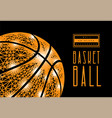 basketball ball from lines and dots polygonal vector image vector image