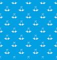 beach bra pattern seamless blue vector image vector image