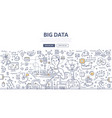 big data doodle concept vector image