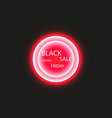black friday sale poster or banner glowing vector image vector image
