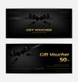 black friday sales gift voucher or banner vector image vector image