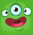 cartoon funny alien face vector image vector image