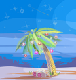 Christmas palm V vector image vector image
