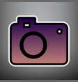 digital camera sign violet gradient icon vector image vector image