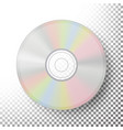 dvd disc realistic compact cd disc mock up vector image vector image