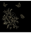 Elegance pattern with flowers narcissus on black vector image