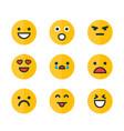 emoticons set emoji smile icons vector image