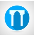Flat icon for arch with column vector image vector image