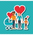 Flat of family design people icon vector image vector image