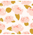 floral abstract seamless pattern design vector image vector image