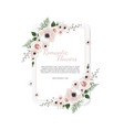 floral design card greeting postcard vector image