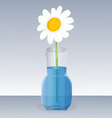 flowers in vase vector image