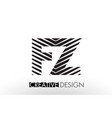 fz f z lines letter design with creative elegant vector image vector image