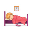 girl sleeping calmly in room vector image vector image