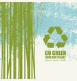 go green eco poster concept save our planet vector image
