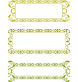 green floral frame vector image vector image