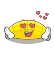 in love slice mang on the caharacter shape vector image vector image